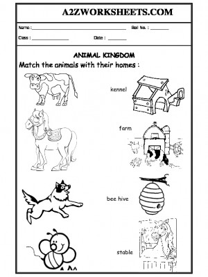 A2Zworksheets: Worksheets of Animals and their habitats-Animals ...