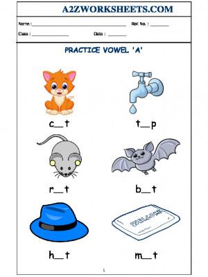 Class-Kindergarten-Vowel A