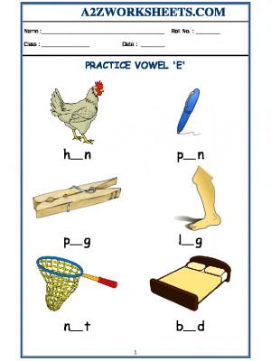 Class-Kindergarten-Vowel E