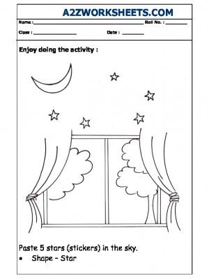 Nursery Activity - Pasting Stars