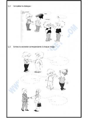 French Worksheet - Saluer et Se présenter
