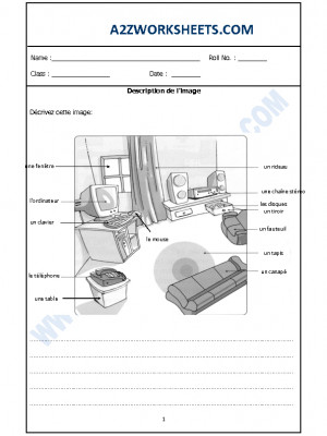 French Worksheet - Decription de l'image-03