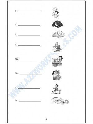 French Worksheet - Les expressions avec - Faire