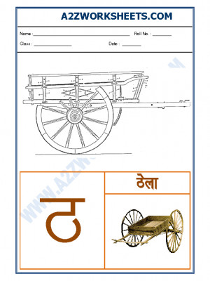 Hindi varnmala - Akshar tha (ठ)