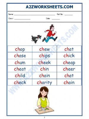 English Phonics Sounds - 'ch' sound words