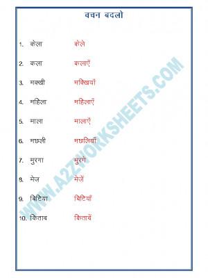 Hindi Grammar- Vachan Badlo (singular plural)-03