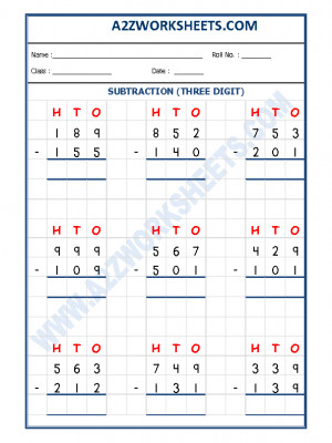 Subtraction Worksheet - 3 Digit Subtraction-04