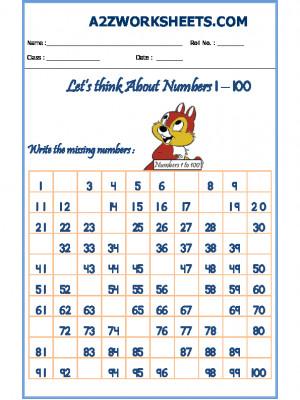 Missing Number Worksheet-02