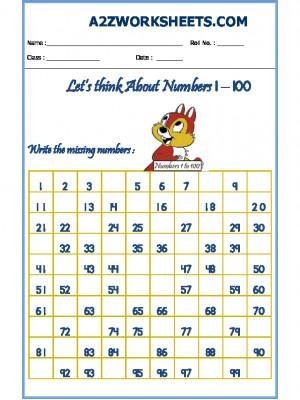 Missing Number Worksheet-03