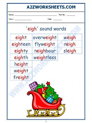 English Phonics Sounds - 'eigh' sound words