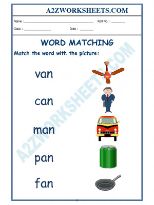 Kindergarten, Word Matching, Word Matching worksheet, Reading worksheet, English worksheet Word Matching, Workbook, Reading, Workbook, English workbook