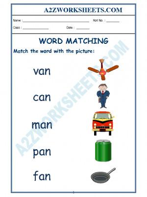 Class-Kindergarten-Word Matching-01
