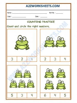 Number Recognition Worksheet - 01