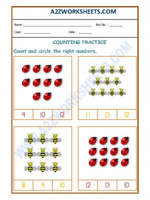 Number Recognition Worksheet - 03