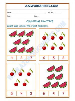 Number Recognition Worksheet - 04
