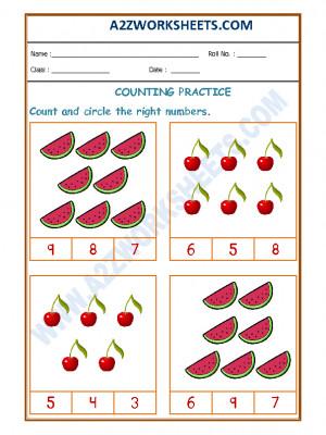 Number Recognition Worksheet - 04