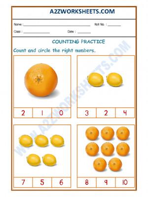Number Recognition Worksheet - 05