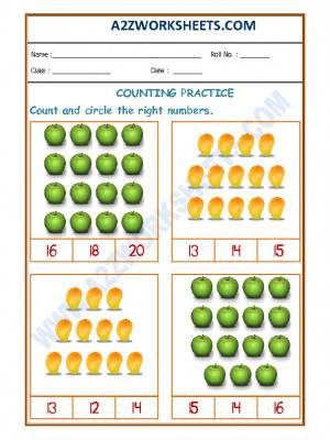 A2zworksheets Worksheets Of Counting Numbers Maths