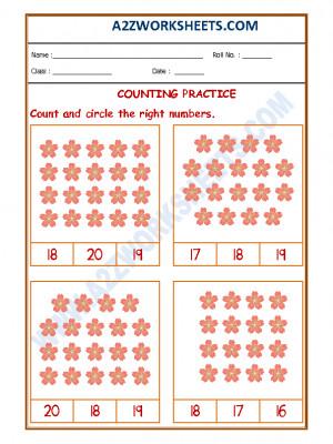 Number Recognition Worksheet - 07