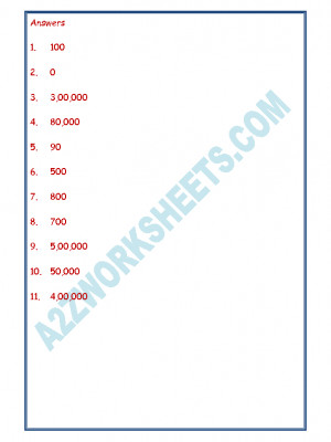 Maths Worksheet - Place Value-02
