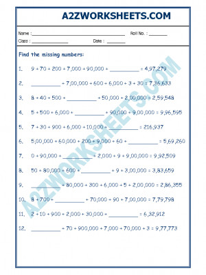 Maths Worksheet - Place Value-03