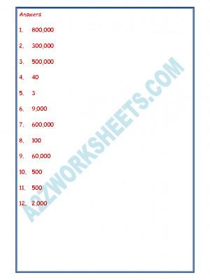 Maths Worksheet - Place Value-04