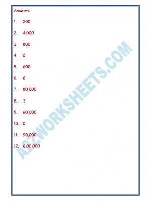 Maths Worksheet - Place Value-05