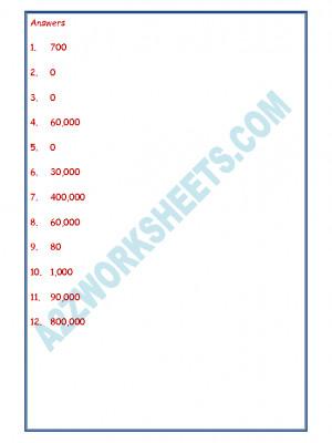 Maths Worksheet - Place Value-06