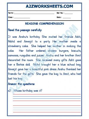 English Comprehension - 16