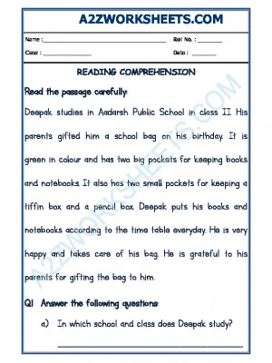 English Comprehension - 20