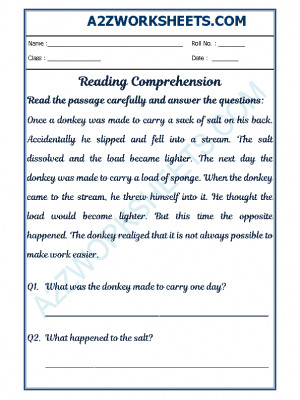 English Comprehension - 26
