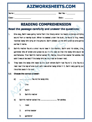 English Comprehension - 12
