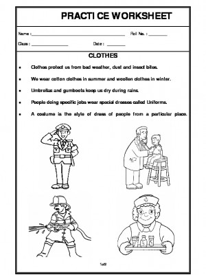 A2zworksheets Worksheet Of Clothes Clothes Basic Necessities Science