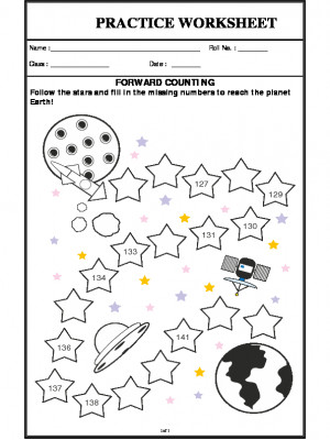 A2Zworksheets:Worksheet of Forward Counting-Counting ...