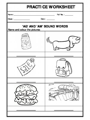 'ag' and 'am sound words
