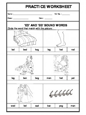 'ed' and 'eg' sound words