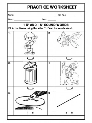 'id and 'in' sound words
