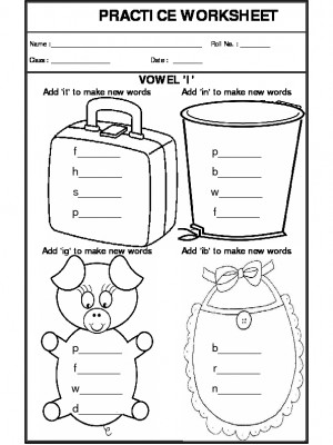 A2Zworksheets: Worksheets of Vowels-Grammar-English