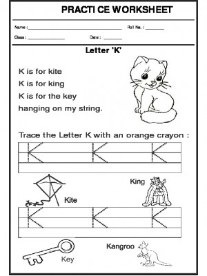 Trace the letter K