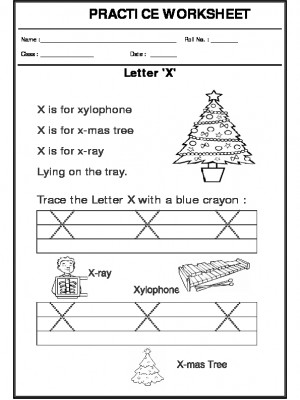 Trace the letter X
