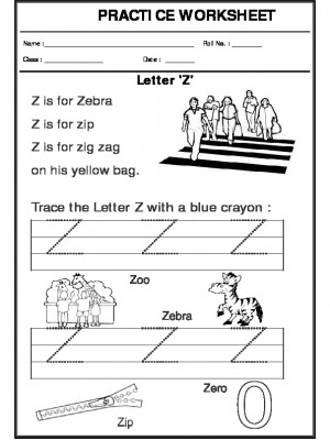 Trace the letter Z