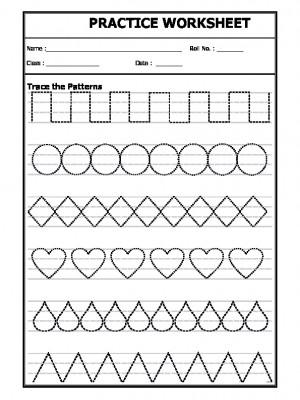 a2zworksheets worksheet of trace the line patterns pattern. Black Bedroom Furniture Sets. Home Design Ideas