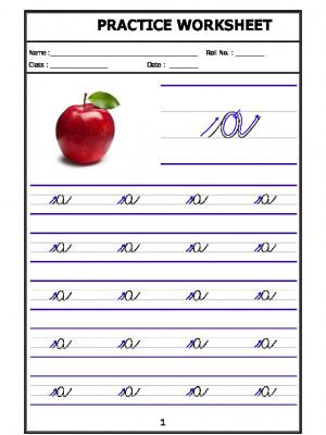 English Cursive Writing - Alphabet a