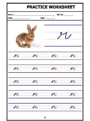 English Cursive Writing - Alphabet r