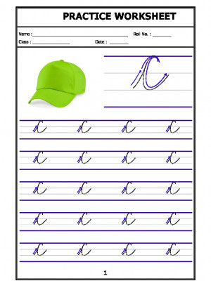 English Cursive Writing - Alphabet C (Capital Letter)