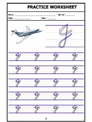 English Cursive Writing - Alphabet J (Capital Letter)