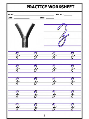 English Cursive Writing - Alphabet Z (Capital Letter)
