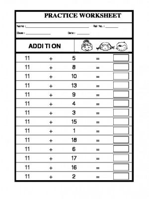 A2zworksheets Worksheet Of Class I Addition 11 Addition Addition Maths
