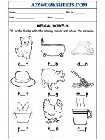 English Class-Nursery-Medial Vowels
