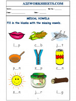 English Class-Nursery-Medial Vowels - 01